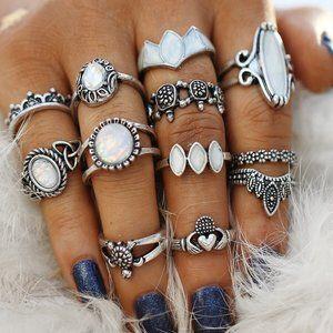 Jewelry - Boho gypsy style ring set